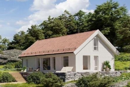 Tjøme/Åsen - Romslig hytte med stor hems på 40m2. Totalt 116 m2 gulvareal. Hyttetype kan endres.