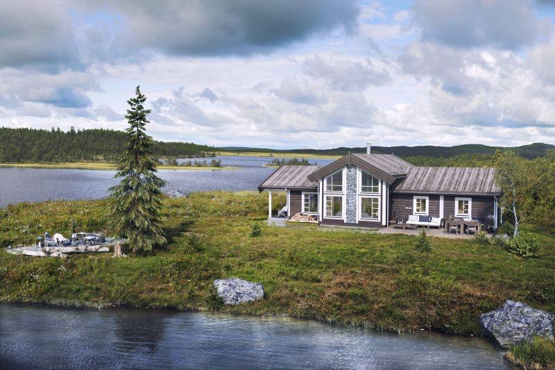 Innholdsrik hytte på Lifjell/Høgefjell fantastisk utsikt og solforhold