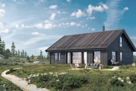 Tur-hytta Storåsen med 4 sov og hems totalt gulvareal på 116 kvm  -Høgefjell fantastisk utsikt og gode solforhold