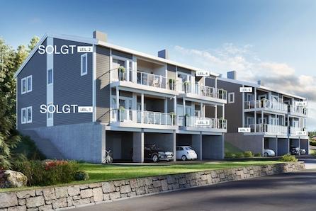 Store leiligheter med carport sentralt i Vanse sentrum.