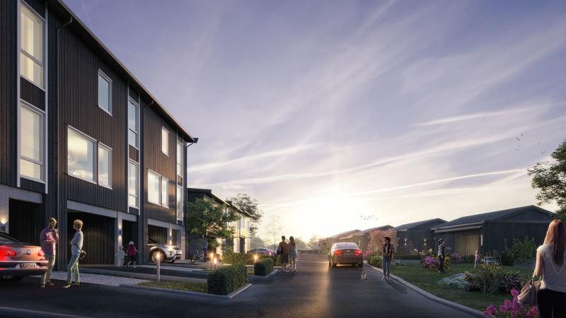 Rossåstoppen, Figgjo - 6 Moderne rekkehus med utsikt og solrik uteplass. Integrert åpen garasje og smart planløsning.