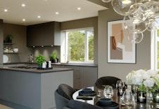 Nydelig moderne kjøkken, kun tiltenkt som illustrasjon.