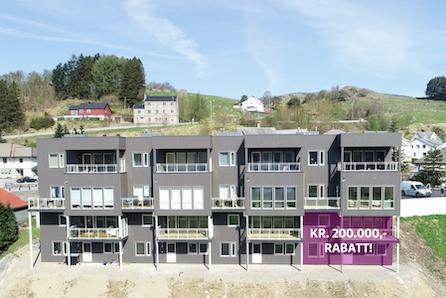 Vikeså | Innflyttingsklar, ny flott leilighet med stor overbygd balkong og nydelig utsikt. -Kampanje-