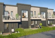 Bygg 1 (Hus 1-3). Hus 1 fra venstre *Illustrasjon vil avvike fra virkeligheten