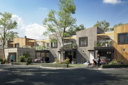 Tjøtta Gard - 6 flotte rekkehus like utenfor sentrum, Brynes beste vestkant