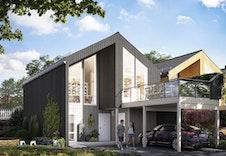 Illustrasjon utvendig hus 1-5