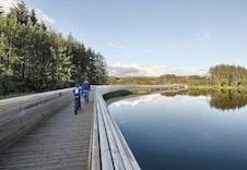 Midtgardsormen tar deg over vatnet til Njåskogen og utvidet løypenettverk