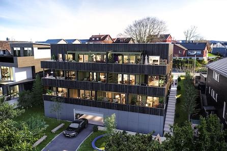 RUV-17 - Sentralt beliggende på Bryne - 9 moderne leiligheter med mange gode kvaliteter .  Solceller - Husbank