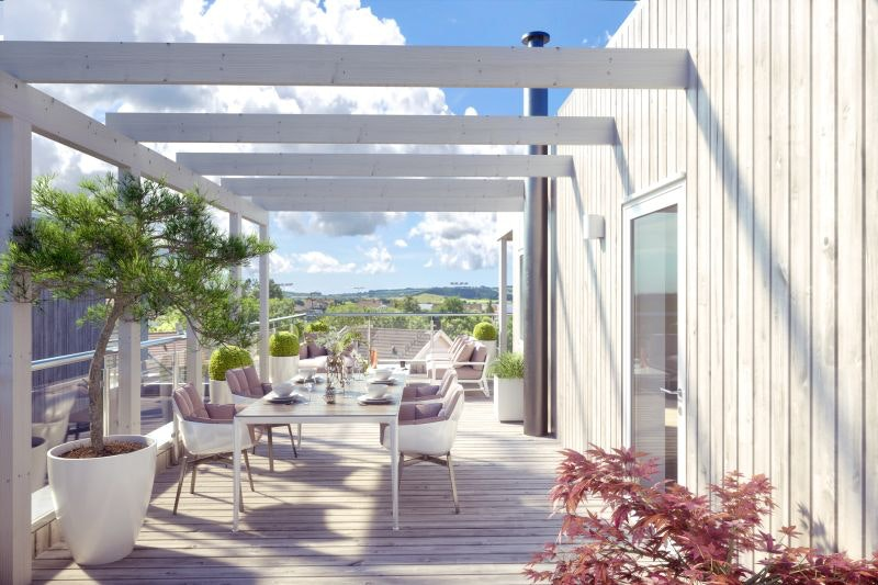 Frøylands Hage - 4 flotte hus med private takterrasser og egen lettstelt hage.