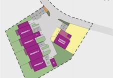 Tomteplan  -oversikt plassering hus