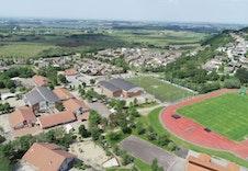 Dronebilde av området