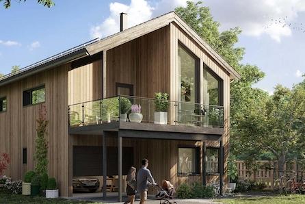 Aksdal - Flott familiebolig over to etasjer med 3 soverom , 2 bad - nydelig sjøutsikt!