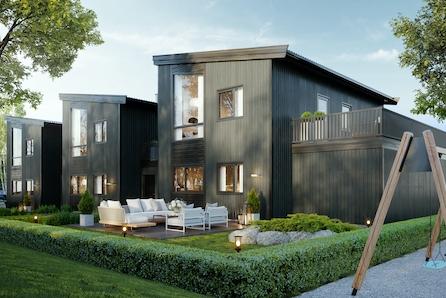 Torvastad - VISNING 10 MAI!! - eneboliger i rekke med carport, god takhøyde i stue/kjøkken og store vinduer!