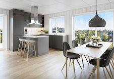 Illustrasjon kjøkken, kan avvike fra ferdig bygg.
