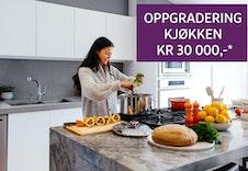 *Ved kjøp av bolig innen 29. februar får du inkludert en oppgradering av kjøkken verdi kr 30 000,-