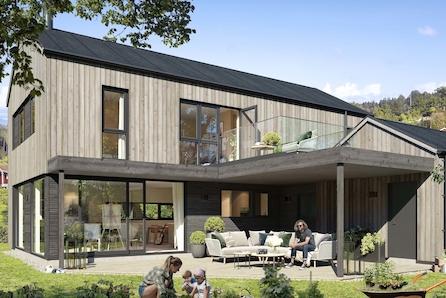 Vea - Går du med byggeplaner? Her kan du bygge moderne hus med 4 soverom, stor overbygd uteplass og integrert garasje!