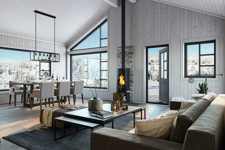 Vøringsfoss - Flott hytte fra Boligpartner i Garslia Hyttefelt!