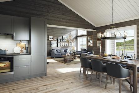 Prosjektert hytte i Bordalen på Voss - Innholdsrik og sjarmerende fjellhytte fra Boligpartner med høy standard!