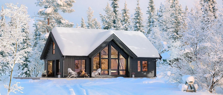 Voss - Prosjektert nøkkelferdig hytte inkl tomt og grunnarbeid. Nydelig beliggenhet og utsikt! Kampanje*
