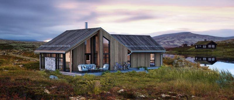 Voss - Prosjektert nøkkelferdig hytte inkl tomt og grunnarbeid. Flott og solrik beliggenhet  på 550 moh! Kampanje*