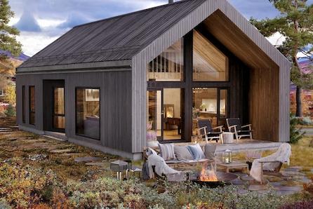 Voss/Vikeshagen - Moderne hytte i nytt konsept fra Boligpartner, vedlikeholdsfrie materialer!