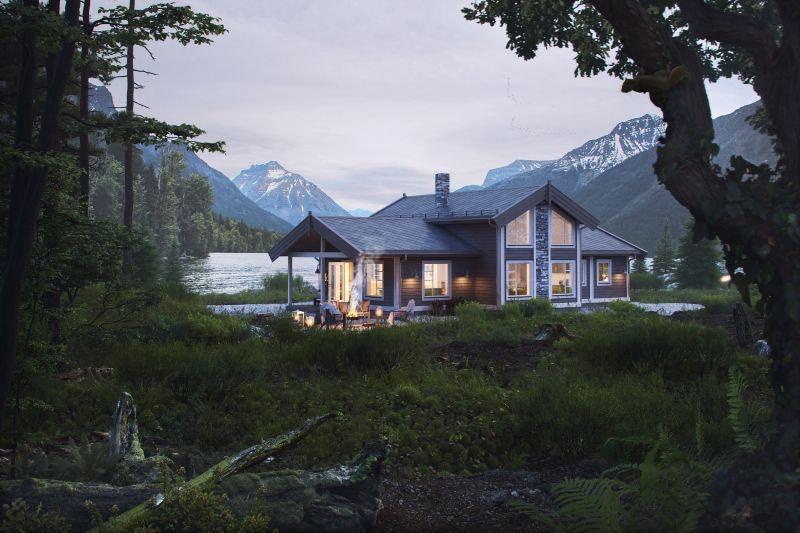 Kvamskogen - Nøkkelferdig hytte inkl tomt og grunnarbeid. Spektakulær tomt med utsikt og mye sol. Kampanje*