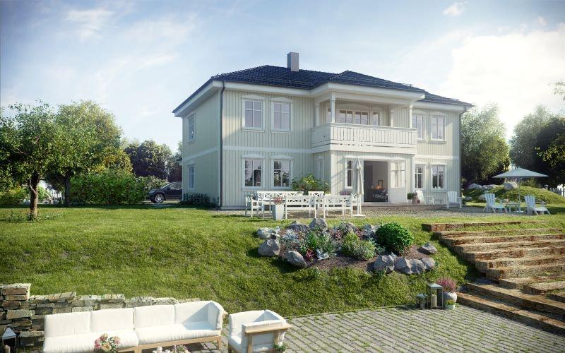 Alversund - Vår flotte og herskapelig Raumarheim med utleiedel prosjektert i Stølhaugane boligfelt. Stor og solrik tomt.