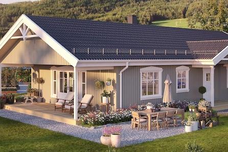 Lindås - Prisgunstig enebolig med overbygget terrasse! Nydelig utsikt + båtplass! Ta kontakt for visning!