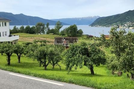Unik moglegheit. Einebustadtomt på Njøs i Leikanger kommune til sals. Visning 10. juli 2019!
