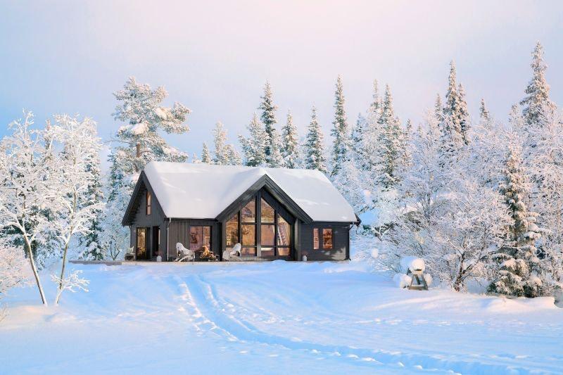 Familievenleg hytte i Hodlekve av typen Nysetra