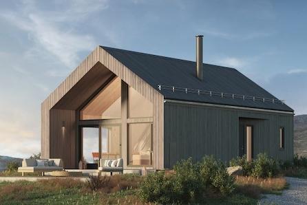 Ny hytte frå BoligPartner med urnorsk bærekraft! Med hytta V1 går me tilbake til våre solide byggeskikkar, med malmfuru!