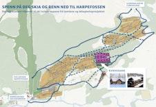 Spenn på deg skia og renn ned til Harpefossen. Det blir etablert tilkomst til ski inn/out løypene frå tomtene og leilegheitsprosjektet