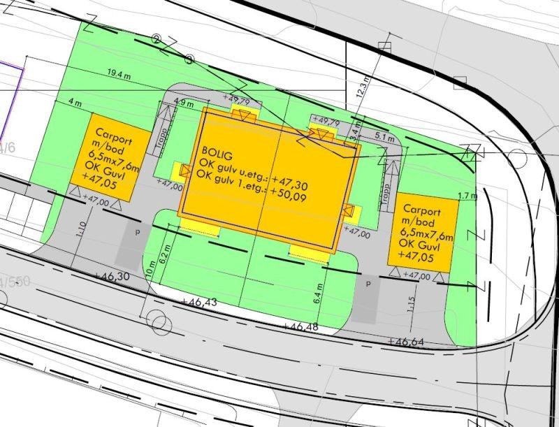 1 Solgt! Fire praktiske og moderne leilegheiter på ett plan. To eller tre soverom. Carport inkl sportsbod.