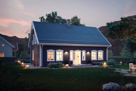 Stårheim - Myrold - Klassisk einebustad på 151m2