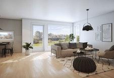 Illustrasjon stue/kjøkken (2 sov)