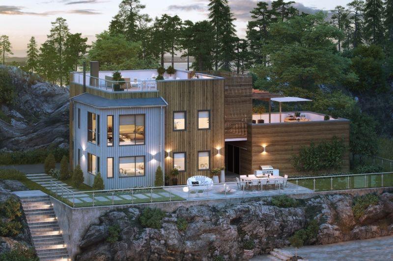 Høyde Draget - Moderne enebolig med takterrasse og garasje. (BRA 195 kvm)