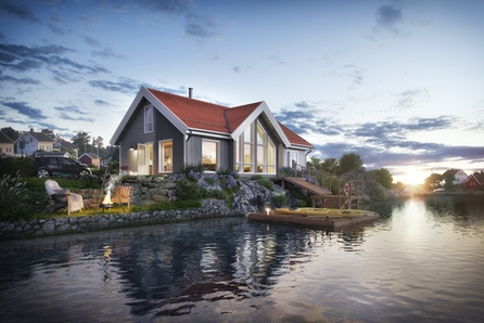 Bygg familievenleg hytte i naturskjønne Håvika! I denne flotte hytta får du den vakre naturen heilt inn i stua.