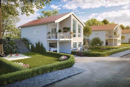 KAMPANJEPRIS - Snerten einebustad med store vindu i stue i Ulsteinvik sentrum.