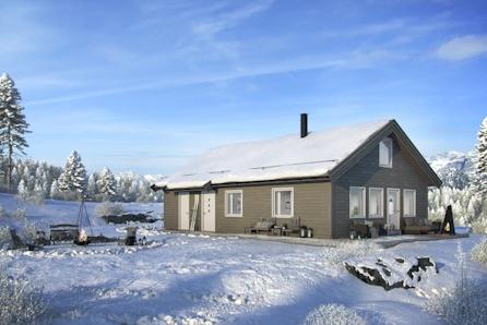 STRANDAFJELLET: Prisgunstig familiehytte med hems på stor og solrik tomt!