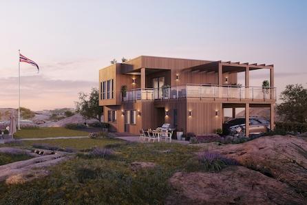 Nøkkelferdig funkis enebolig i fantastisk område, Sandvika på Roald! Vi tilpasser boligen etter dine behov!