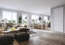 Illustrasjon stue/kjøkken