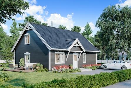 Nøkkelferdig enebolig med 3-5 sov i Sandvika på Roald! Mulighet for husbankfinansiering!
