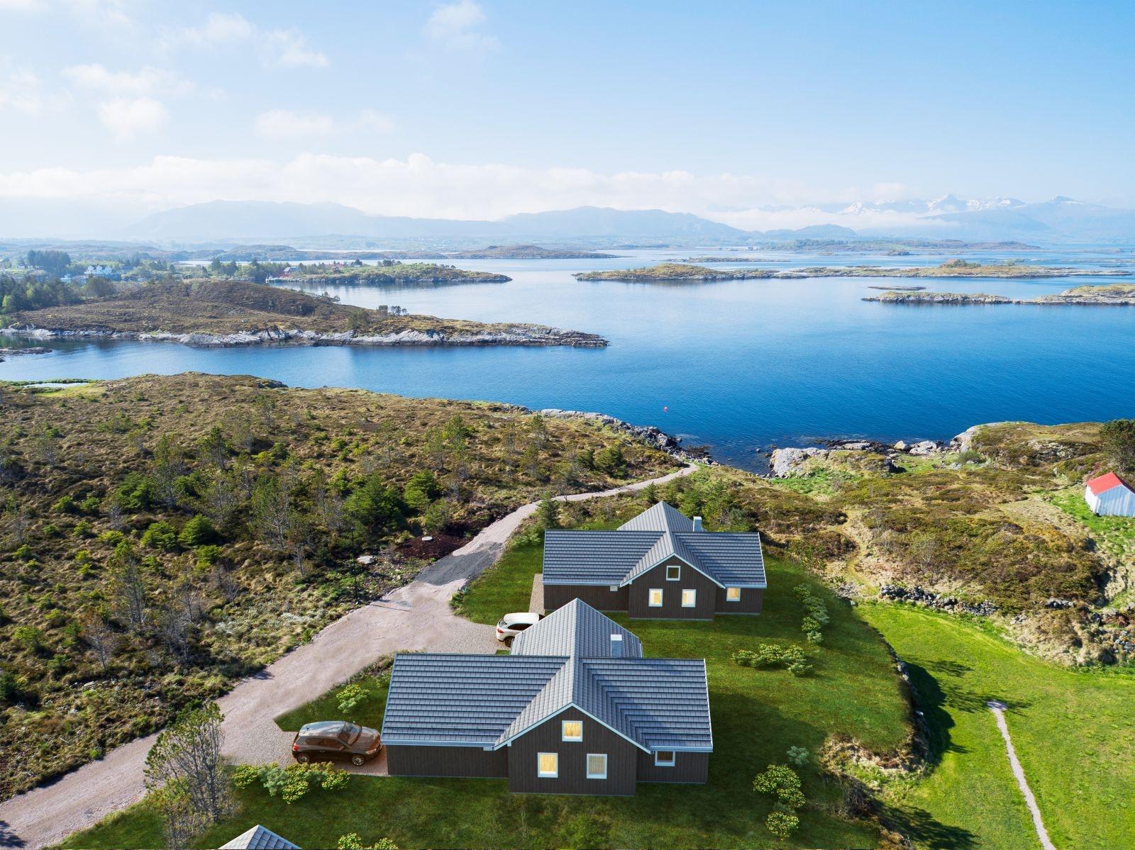 Lysøya - 13 solrike tomter med prosjektert fritidsbolig - Ditt eget fritidsparadis ved havet!