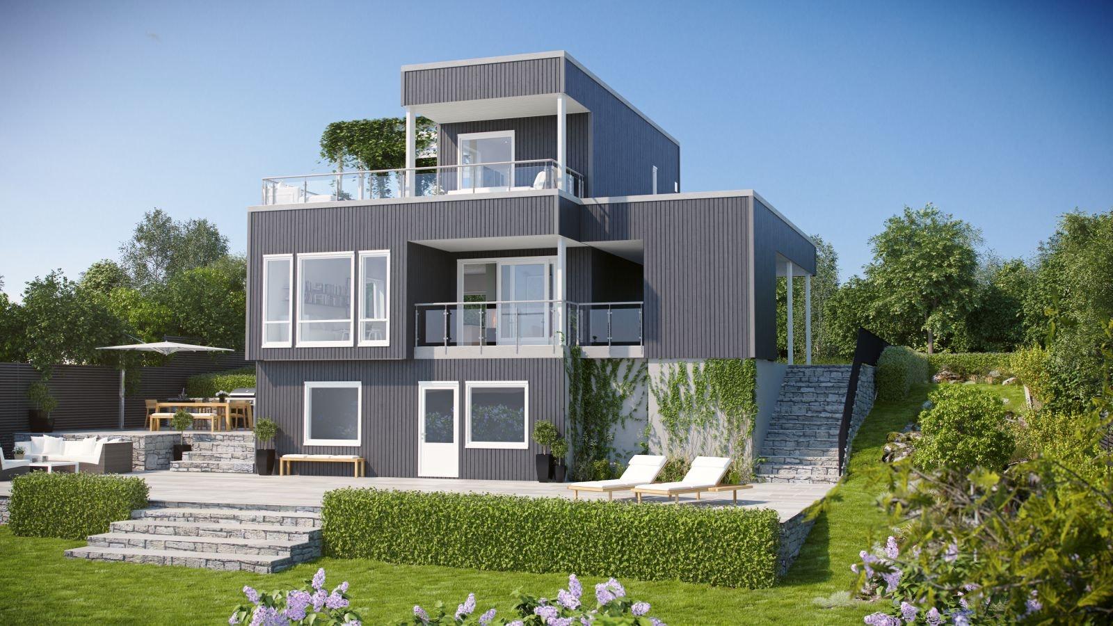 Moderne enebolig planlagt på Hasseløya!