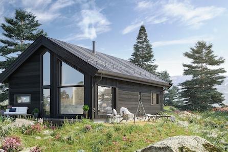 Familiehytte på idylliske Lysøya/Averøy fra BoligPartner med bruksareal på 65m² og hems på 18,9m² . Bygging er igangsatt