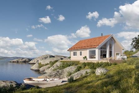 BETTEN-NESSET - Familievennlig Kvarstad med 3 soverom ogutsikt over sjøen og Tustnastabban.