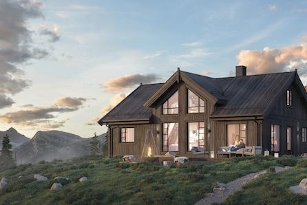 Prosjektert Storåsen med 4 soverom på stor utsiktstomt, kun 1 time fra Trondheim