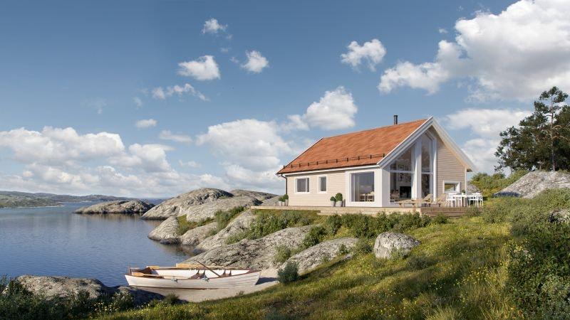 FEVÅG - Kvarstad med 3 soverom på tomt med fantastisk utsikt og særdeles gode solforhold.