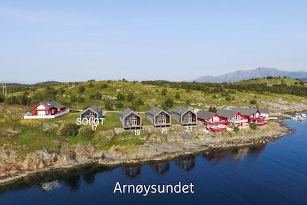 Arnøysundet - sjøhytter med havutsikt! Eldorado for fiske, kajakk/padling og turer i skjermet skjærgård.