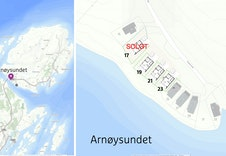 Arnøysundet sjøtomter. Tomt 17 er solgt.